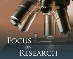 microscope, focus on research